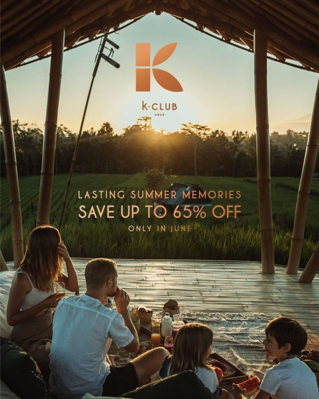 Spend days to enjoy the infinite summertime with friends, family or your loved ones. Save up to 65% off, only in June 2021. Book this limited offer now.  . *No minimum stay *T&C applied . For reservation and details, reach us through DM or WhatsApp in link bio. Limited availability! #kclububud
